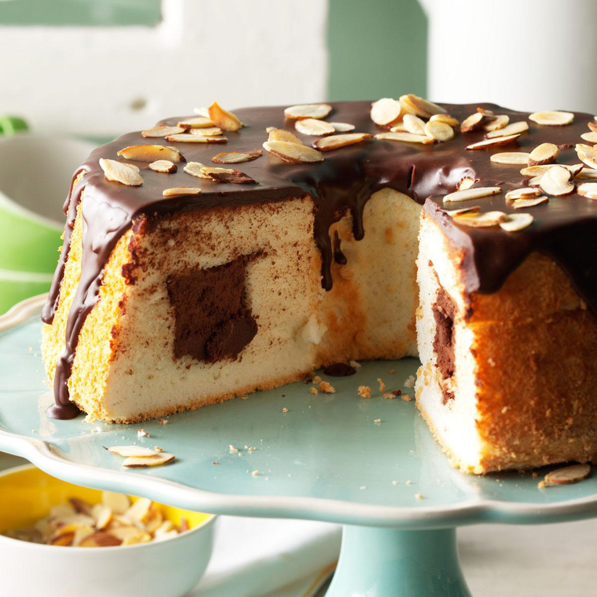 Chocolate-Filled Angel Food Cake Recipe | Taste of Home - recipes angel food cake