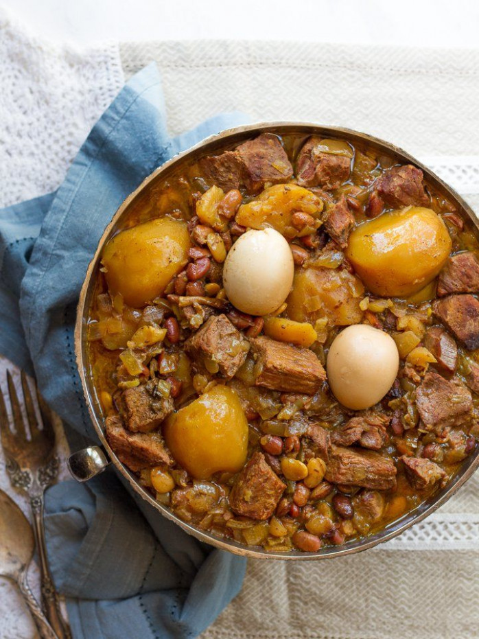 Cholent - Slow-cooked stew for Shabbat, also known as ..