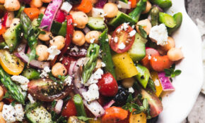 Chopped Asparagus Salad – Vegetarian Recipes Asparagus