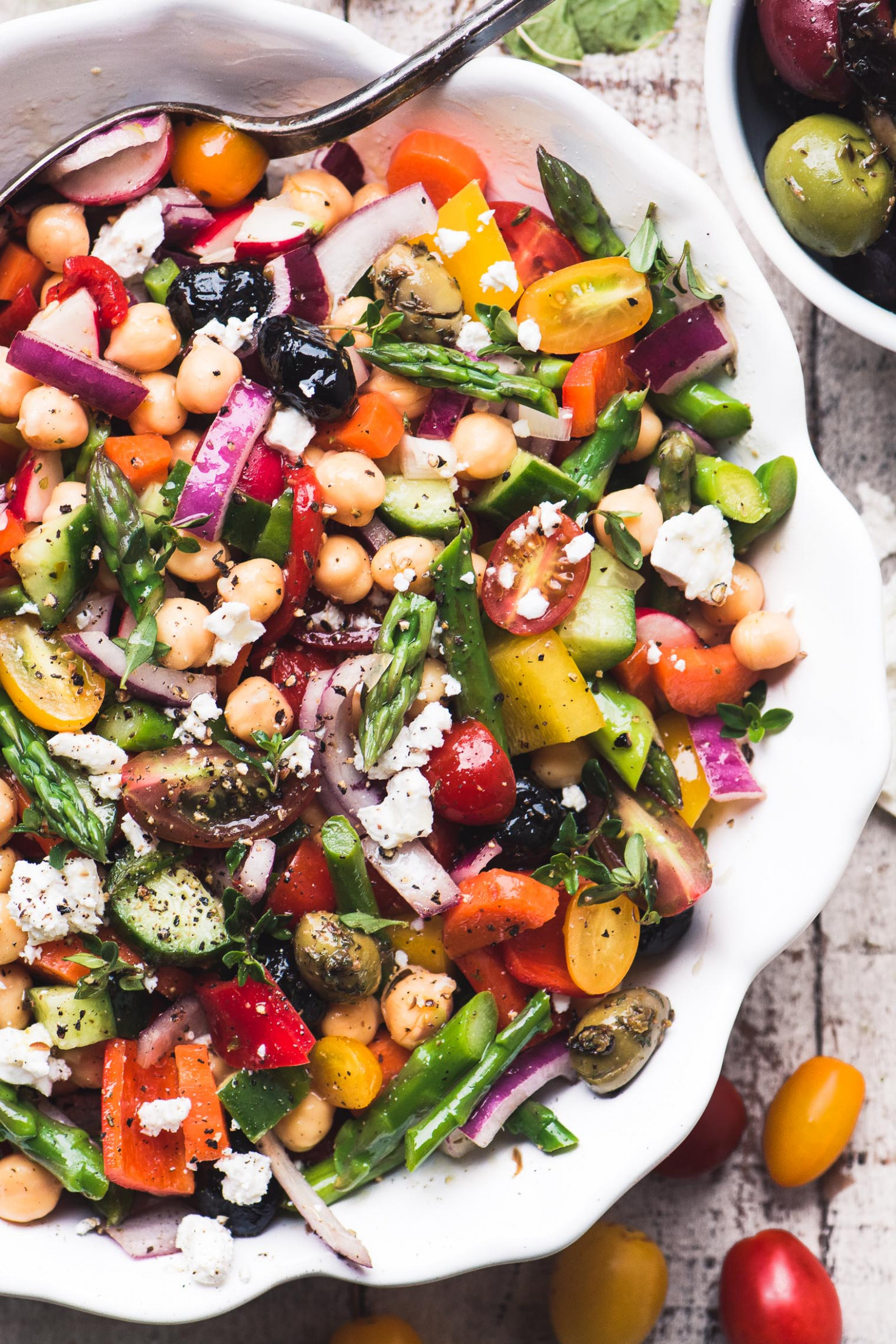 Chopped Asparagus Salad - vegetarian recipes asparagus