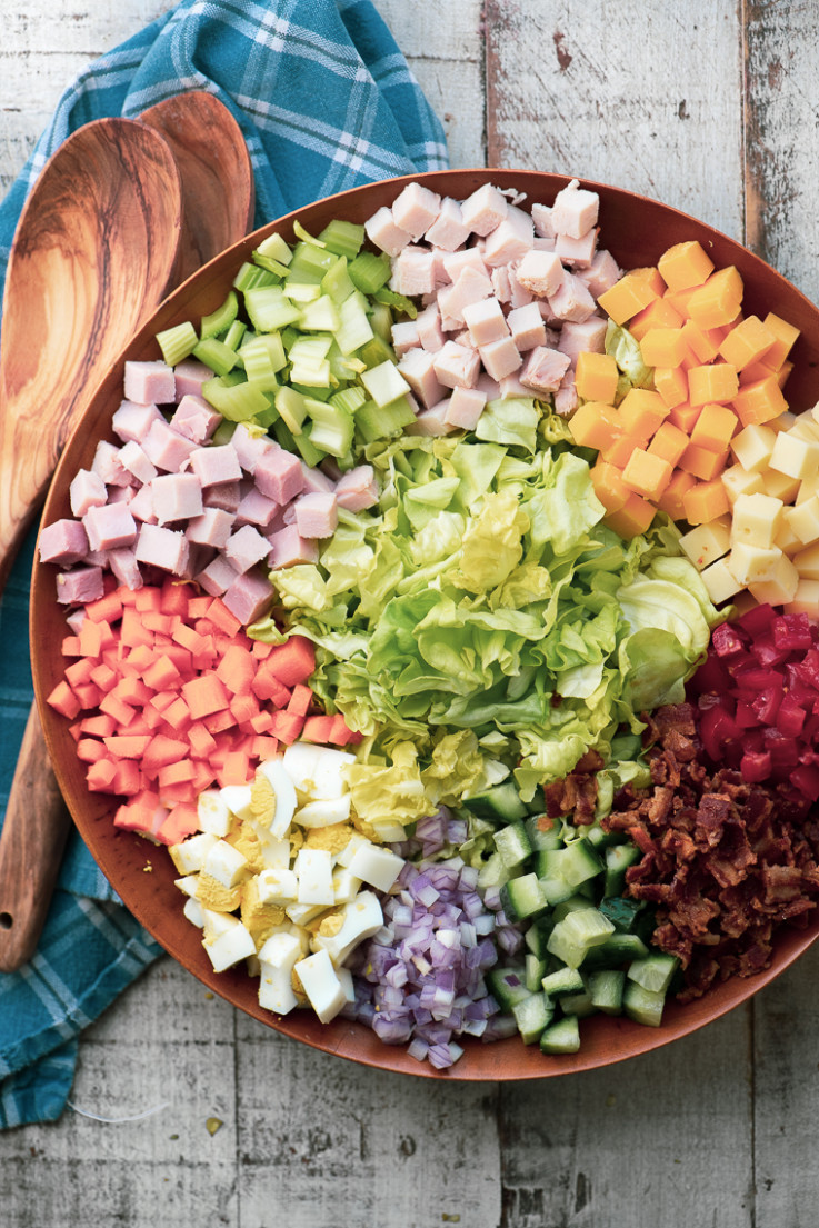 Chopped Chef Salad with Creamy Sweet Onion Dressing | The ..
