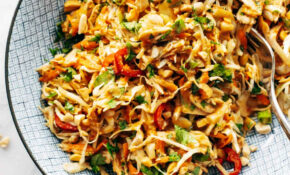Chopped Thai Chicken Salad Recipe – Pinch Of Yum – Recipes Diced Chicken Breast