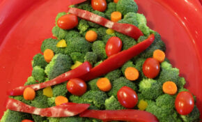 Christmas Tree Veggie Tray – Veggie Xmas Dinner Recipes