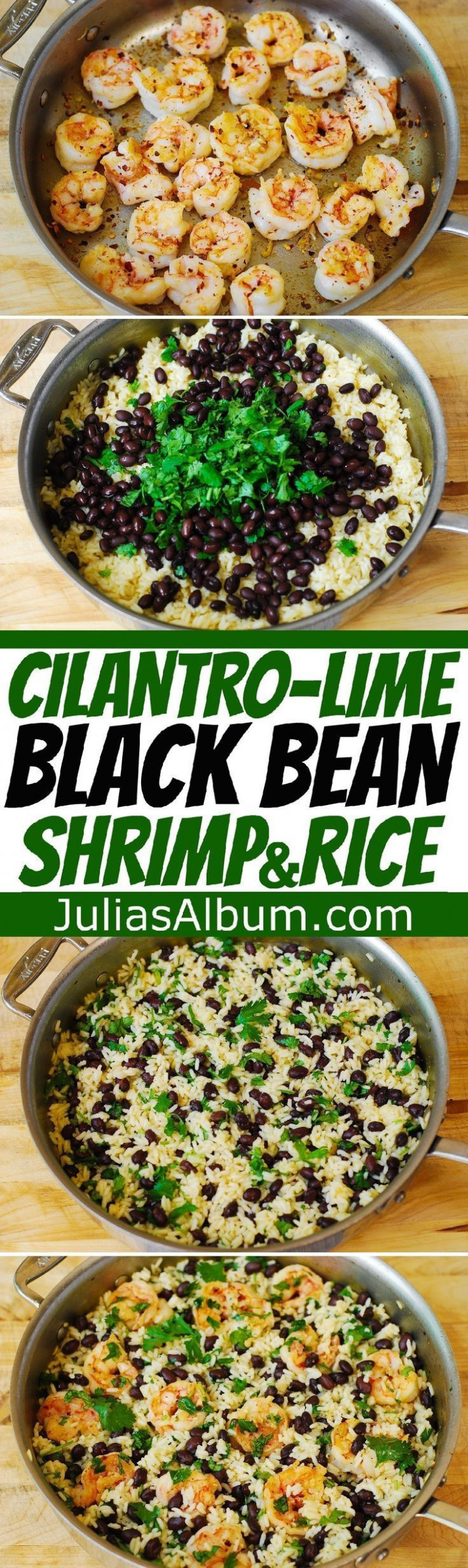 Cilantro-Lime Black Bean Shrimp and Rice - healthy, gluten ..