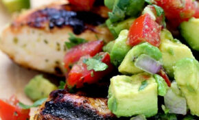 Cilantro Lime Chicken with Avocado Salsa - Yummy Healthy Easy