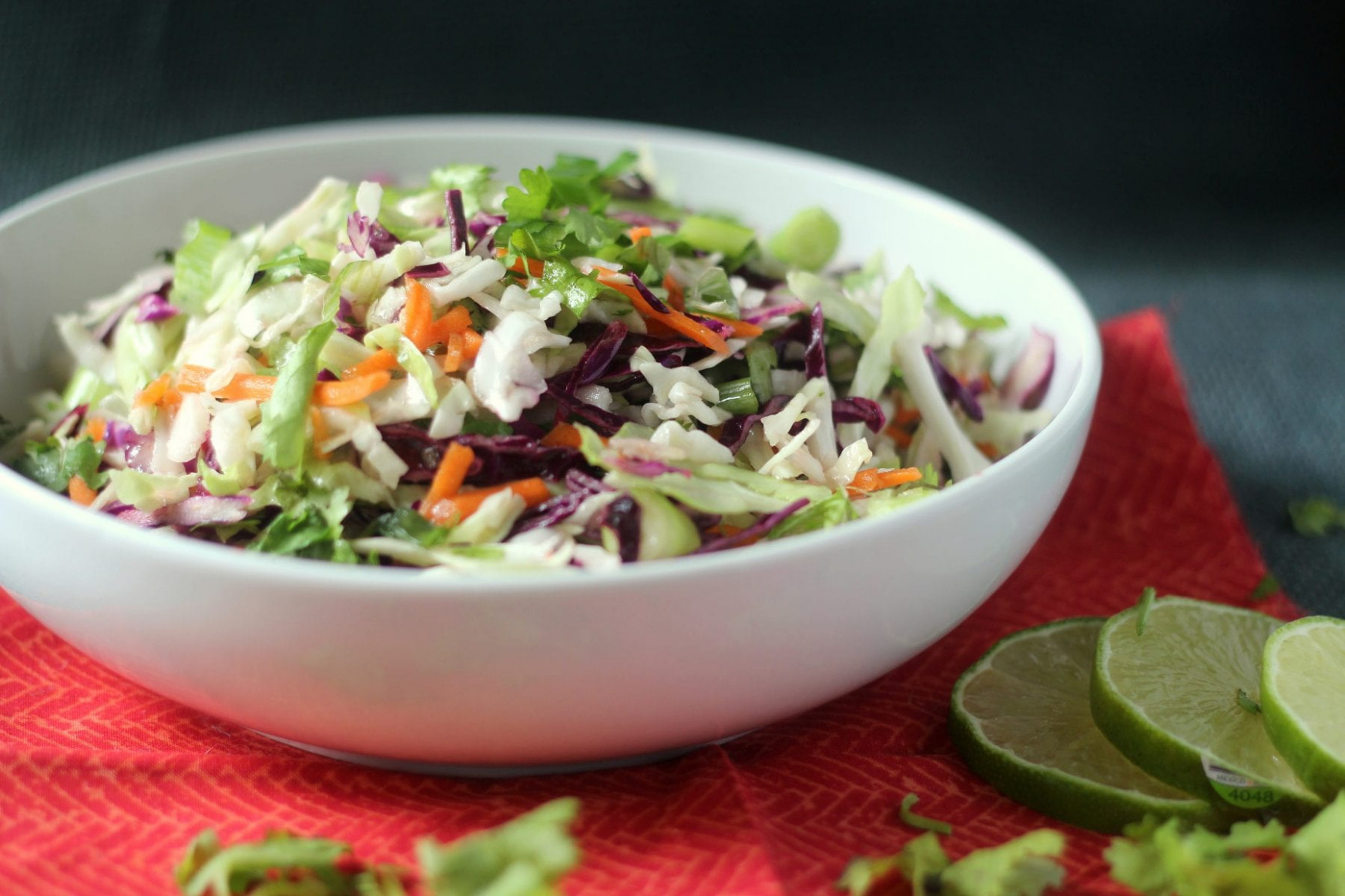 Cilantro Lime Cole Slaw - Blackberry Babe - Healthy Recipes Coles