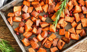 Cinnamon Maple Roasted Sweet Potatoes