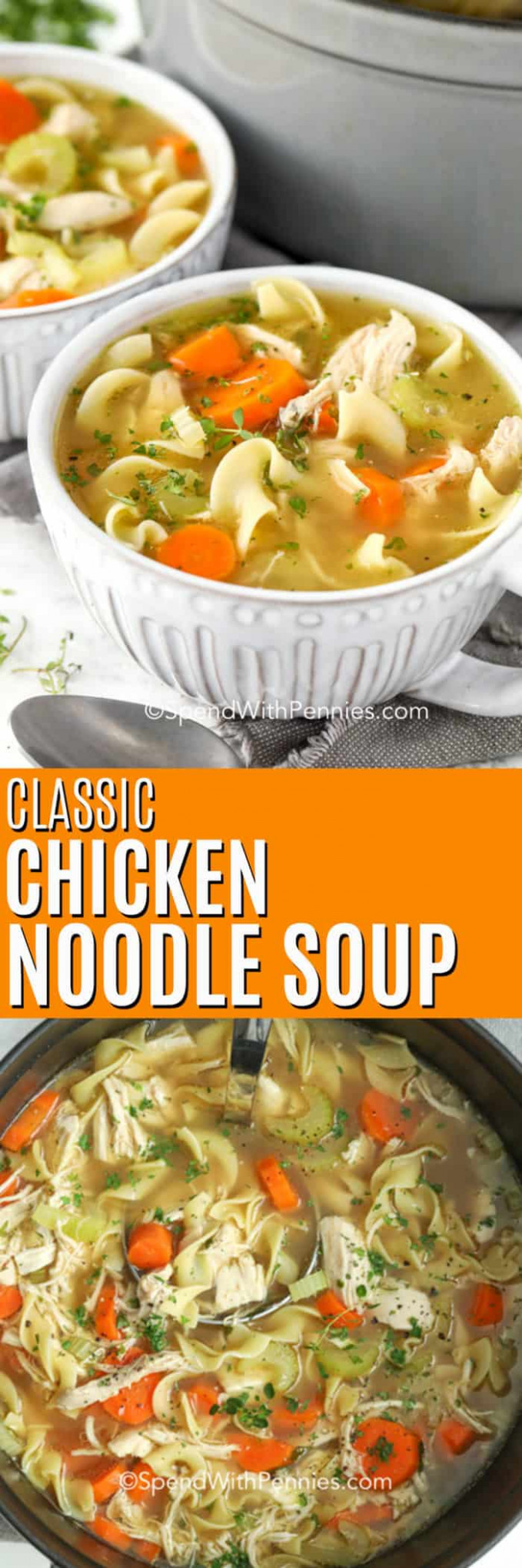 Classic Chicken Noodle Soup Ready in 15 Mins! - Spend With ..