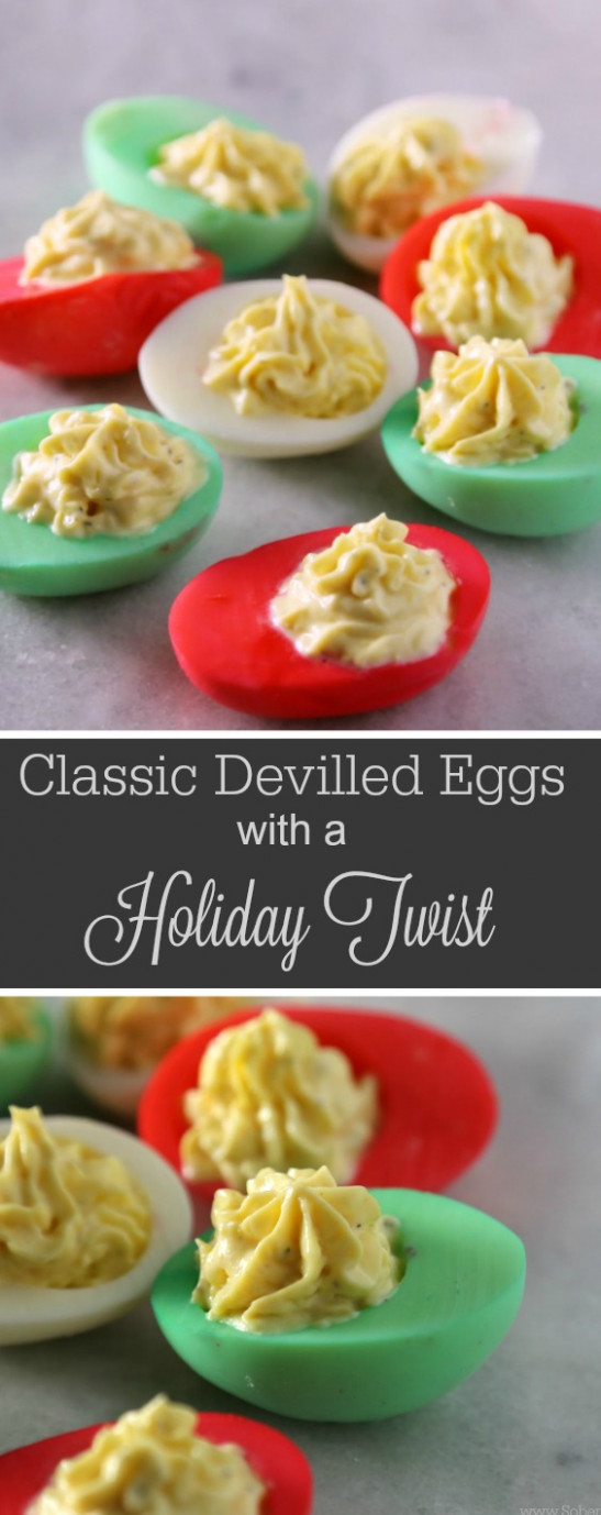 Classic Devilled Eggs Recipe With a Holiday Twist - Sober ..
