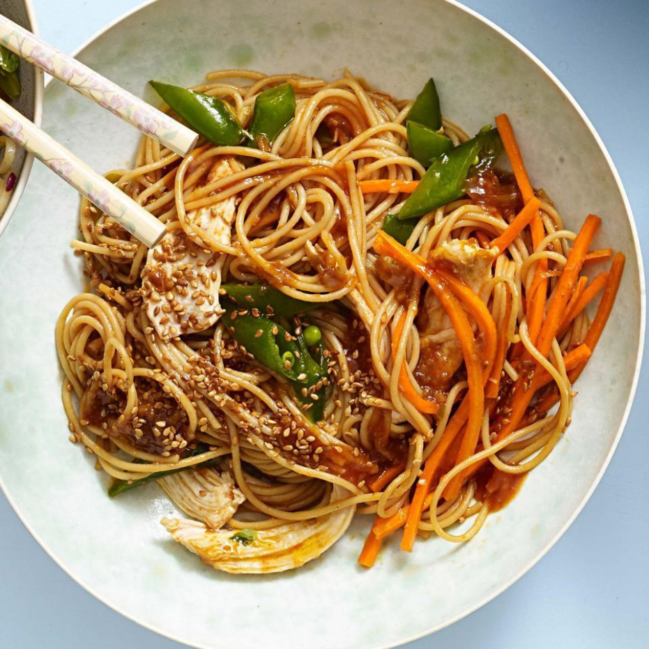 Classic Sesame Noodles with Chicken - vermicelli noodle recipes chicken