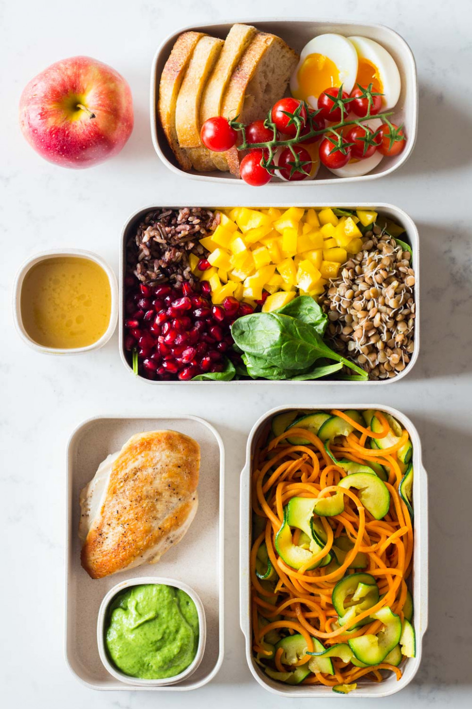 Clean Eating Meal Plan - 1 full day prepped in 40 mins ..