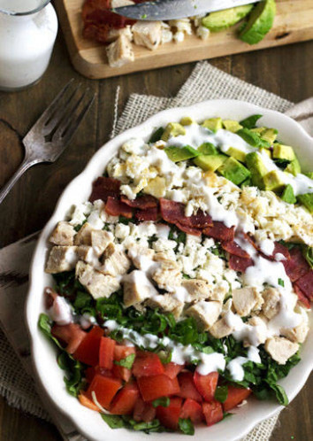 Cobb Salad Recipe Low Calorie and Low Fat - Food Faith ..