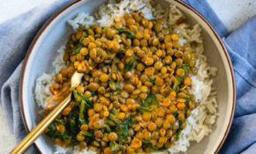 Coconut Lentil Curry with Greens