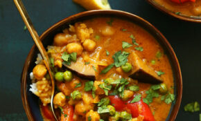 Coconut Red Curry With Chickpeas – Curry Recipes Vegetarian