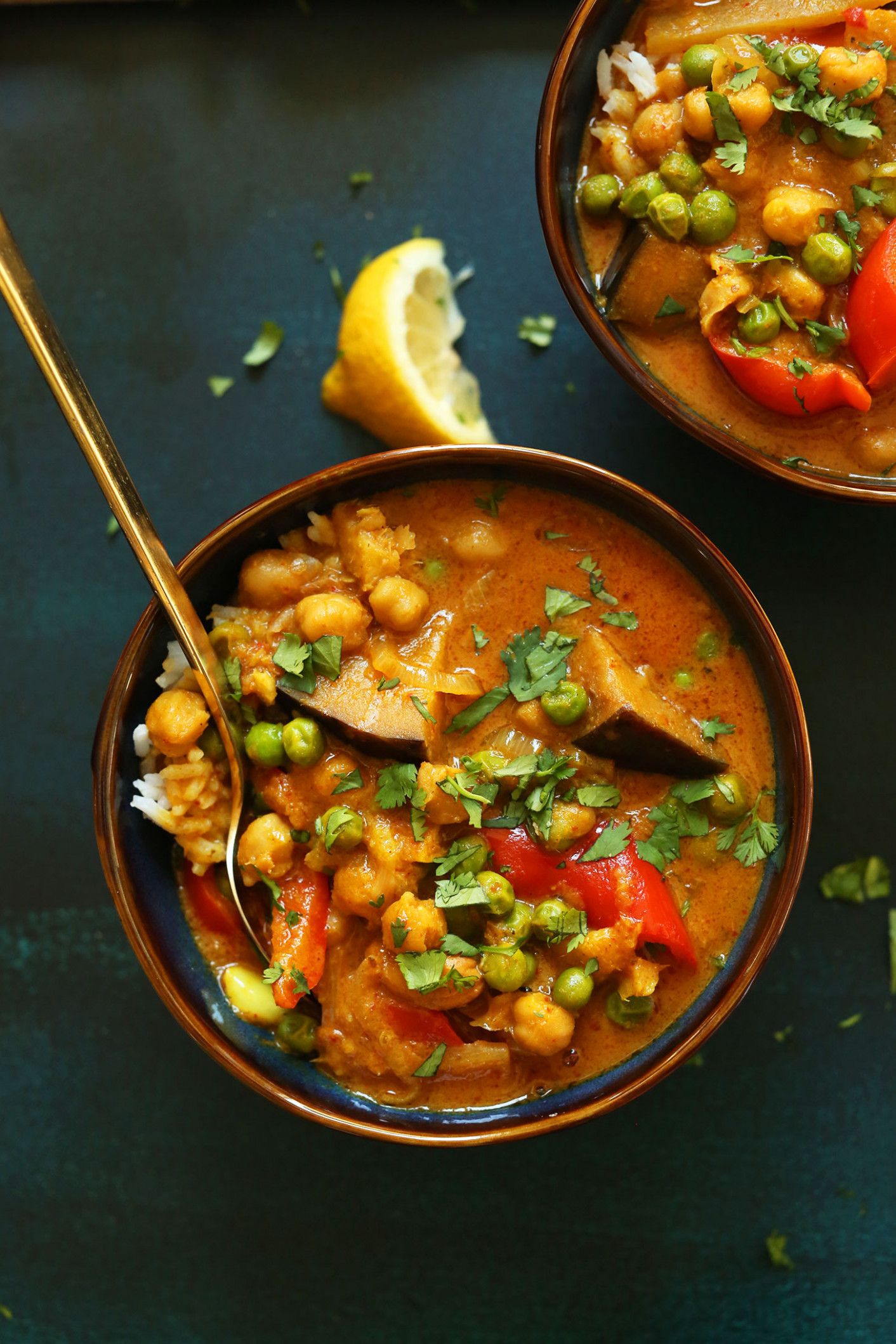 Coconut Red Curry with Chickpeas - recipes vegetarian curry coconut milk