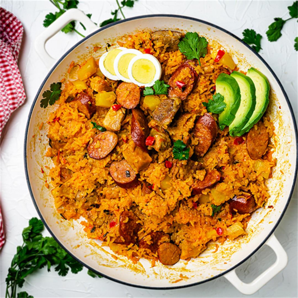 Colombian Pork and Sausage Risotto - Arroz Atollado | All ..