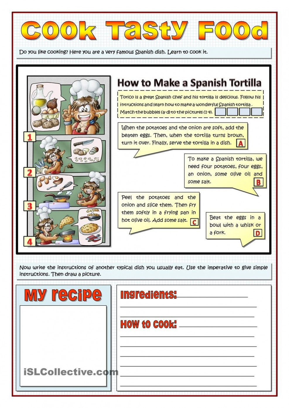 COOK TASTY FOOD - RECIPES AND IMPERATIVES | School ..