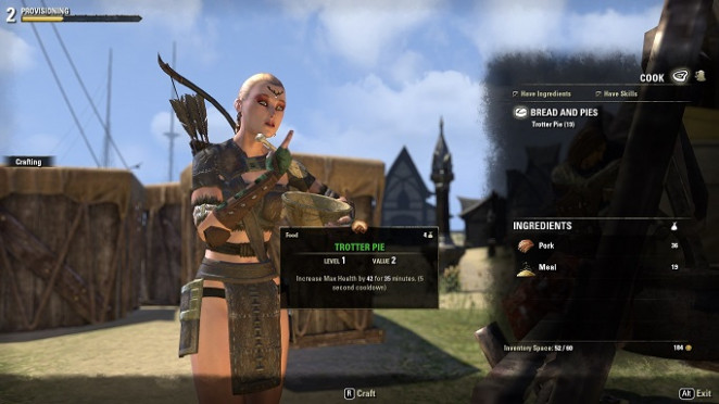 Cooking: ESO Provisioning Guide - food recipes eso