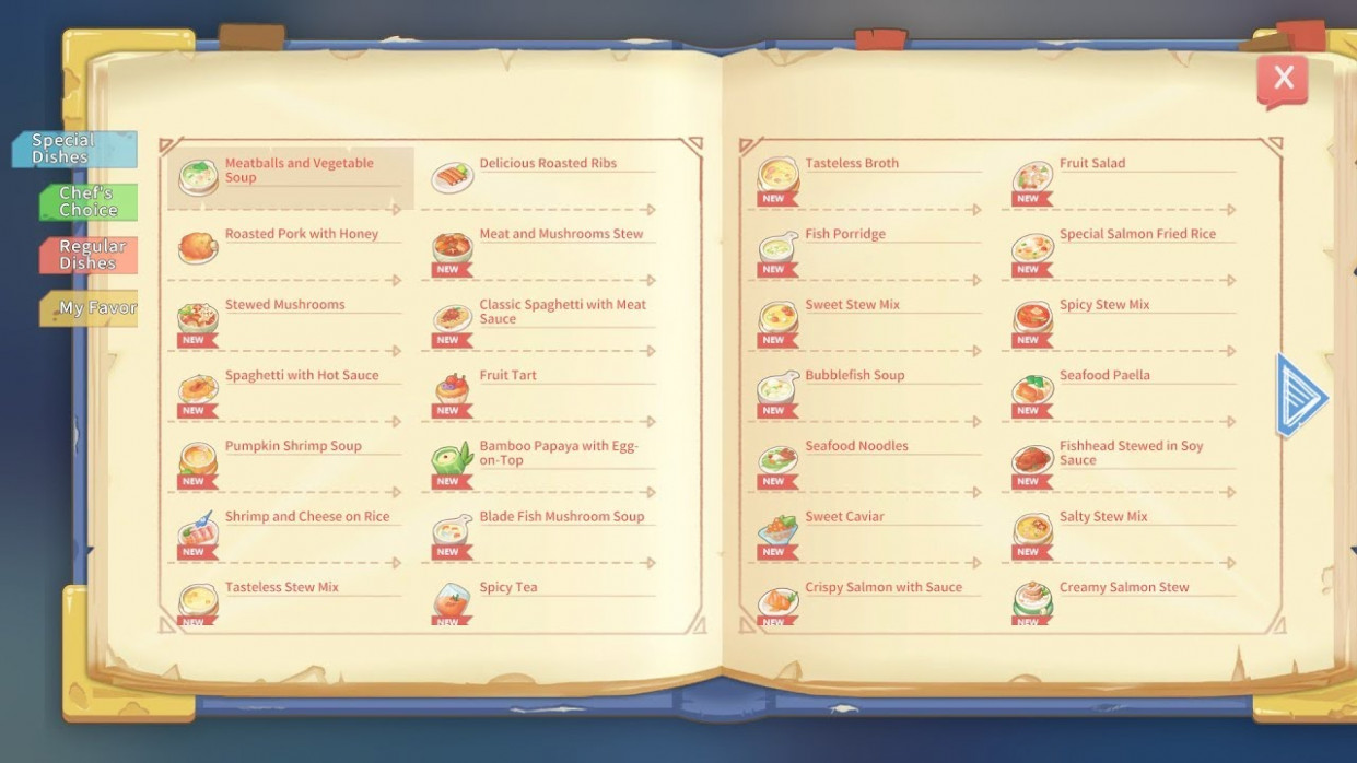 COOKING TIME with New RECIPES - My Time at Portia - food recipes my time at portia