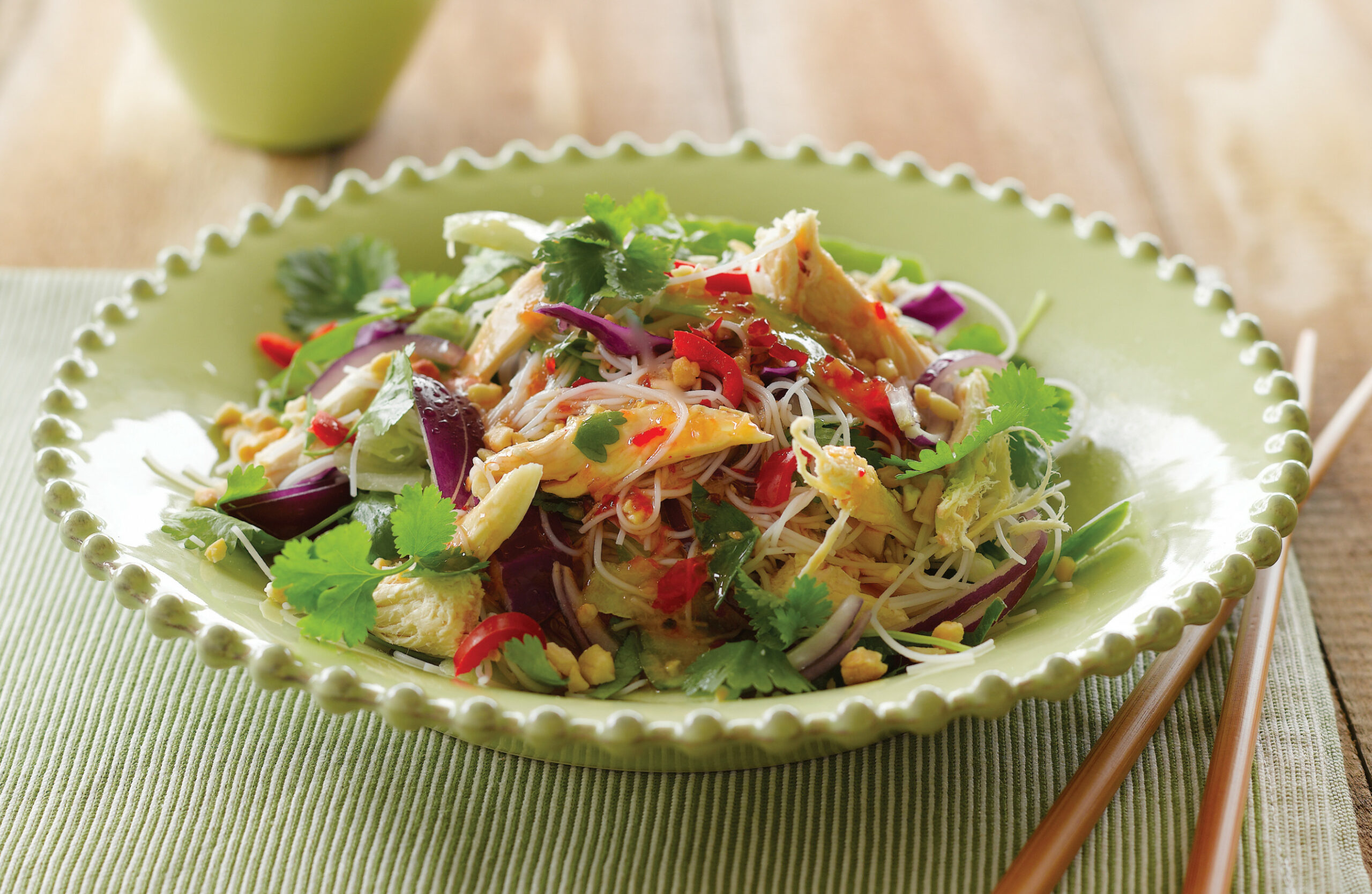 Coriander and chicken vermicelli salad - nadia lim recipes chicken