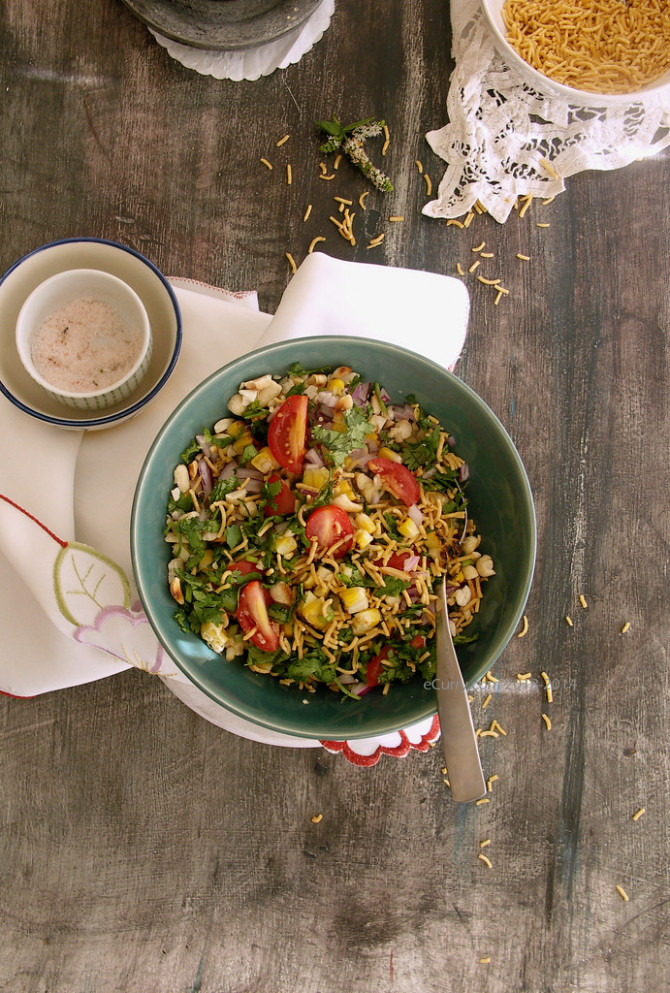corn and peanut chaat 3 - recipes vegetarian high protein