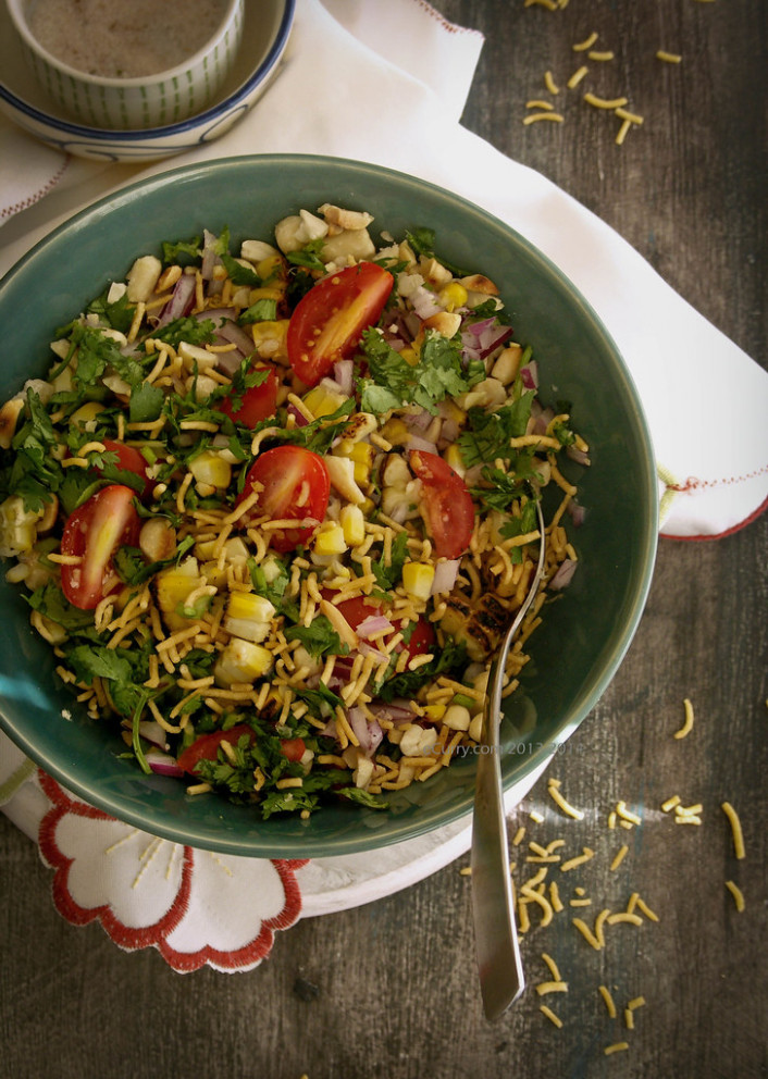 Corn And Peanut Chaat 4 - Recipes Vegetable Side Dishes Healthy