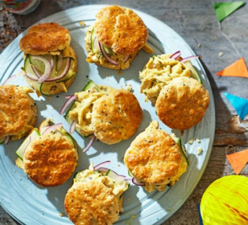 Coronation chicken scones recipe | BBC Good Food - recipes buffet dinner