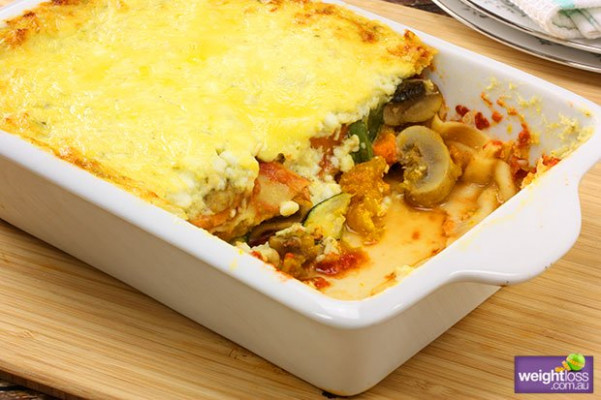 Cottage Cheese Vegetable Lasagne - recipes using cottage cheese healthy
