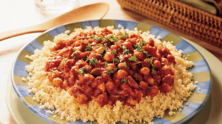 Couscous with Vegetarian Spaghetti Sauce Recipe ..
