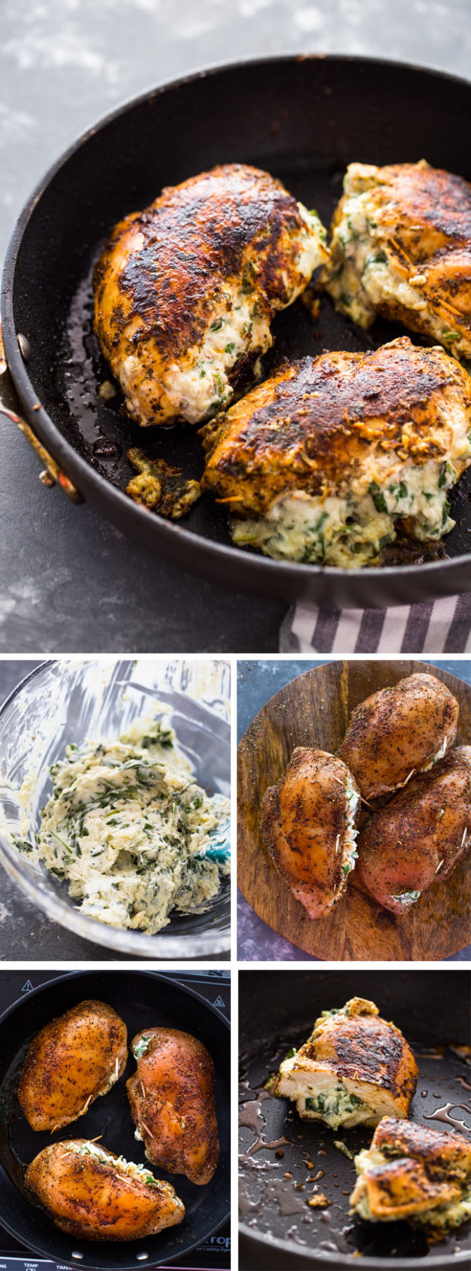 Cream Cheese Spinach Stuffed Chicken (Low-carb, Keto) - chicken recipes using cream cheese