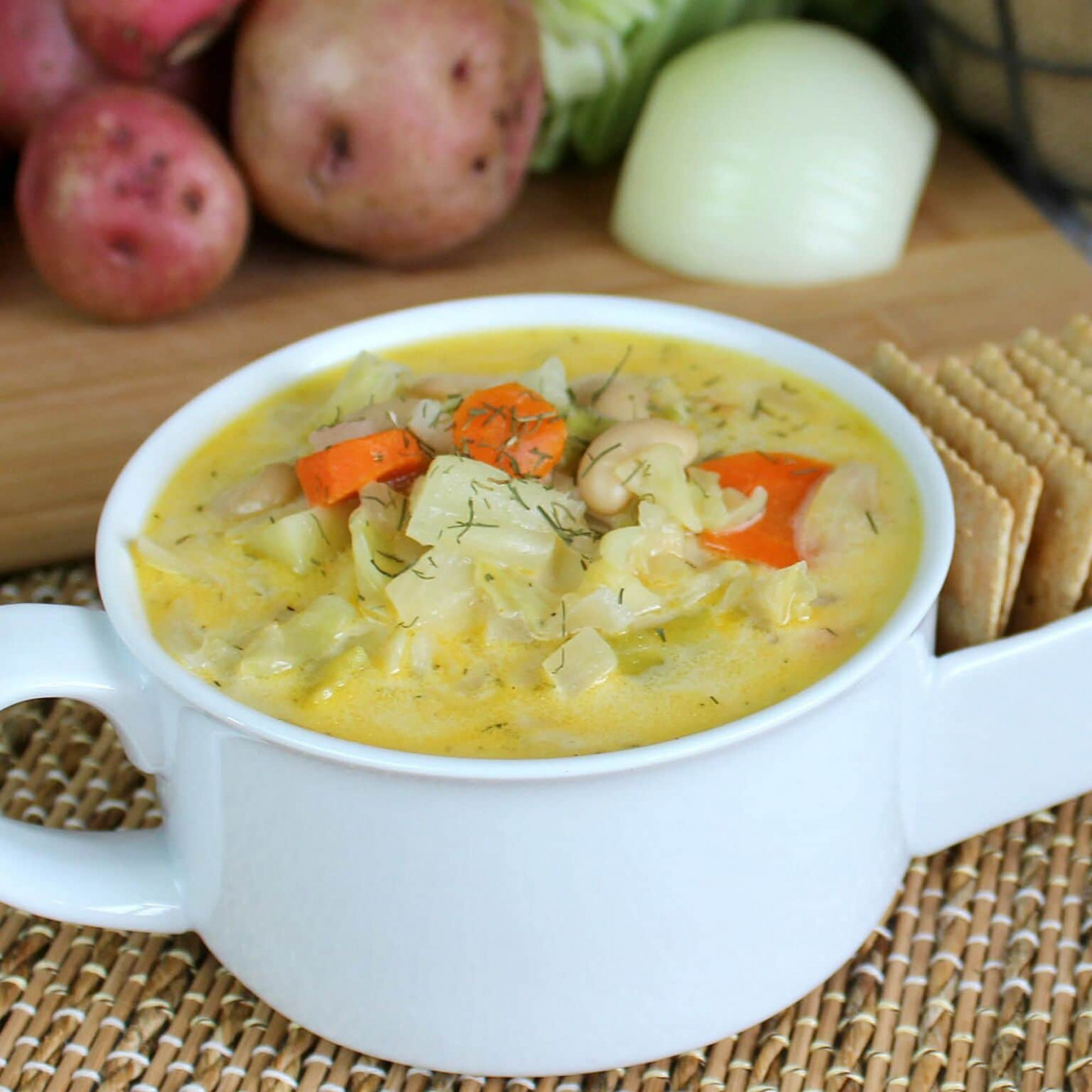 Cream of Cabbage Soup - recipes vegetarian soup