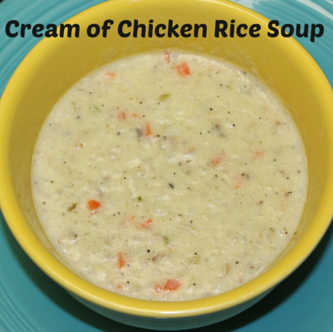 Cream of Chicken Rice Soup Recipe