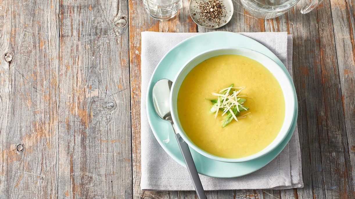 Cream of Chicken Soup with Turmeric, Ginger and Shallots - recipes made with cream of chicken soup