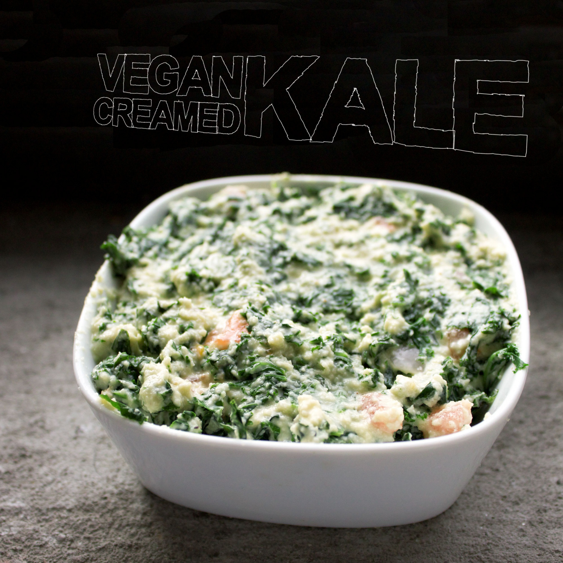 Creamed Kale [vegan] | Quiche-a-Week - kale recipes vegetarian