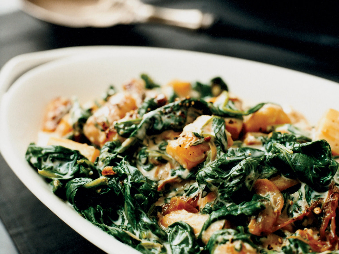 Creamed Spinach and Parsnips Recipe - Grace Parisi | Food ..