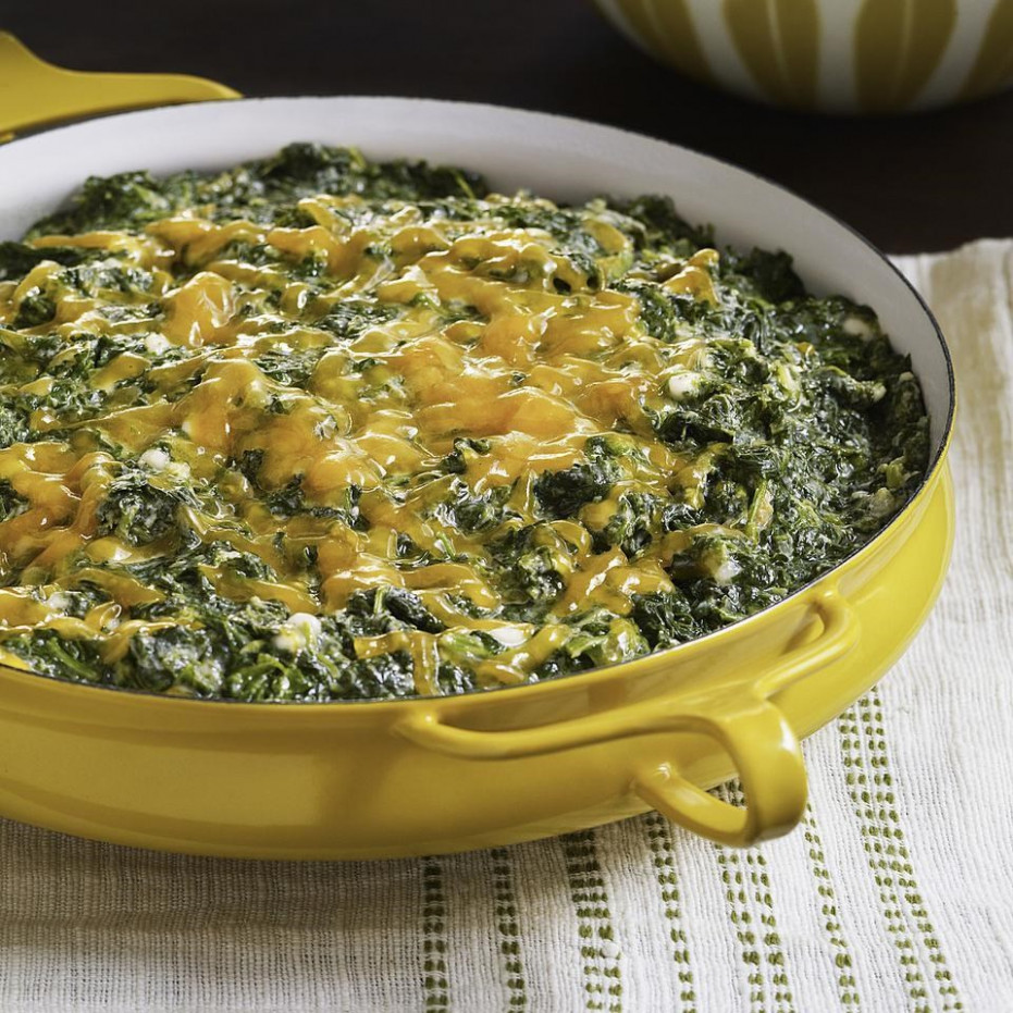 Creamed Spinach Casserole Recipe - EatingWell - spinach recipes dinner