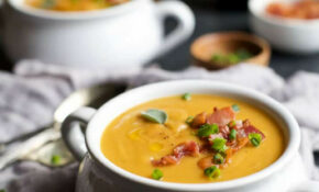 Creamy Bacon Roasted Butternut Squash Soup | Easy Healthy ...