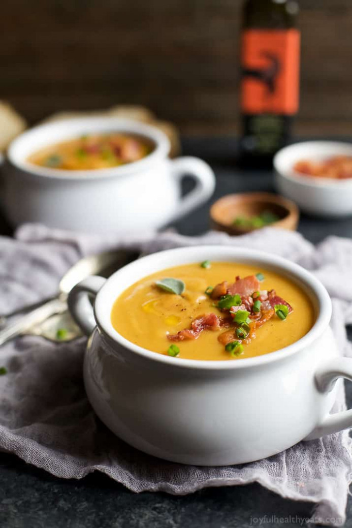 Creamy Bacon Roasted Butternut Squash Soup | Easy Healthy ..