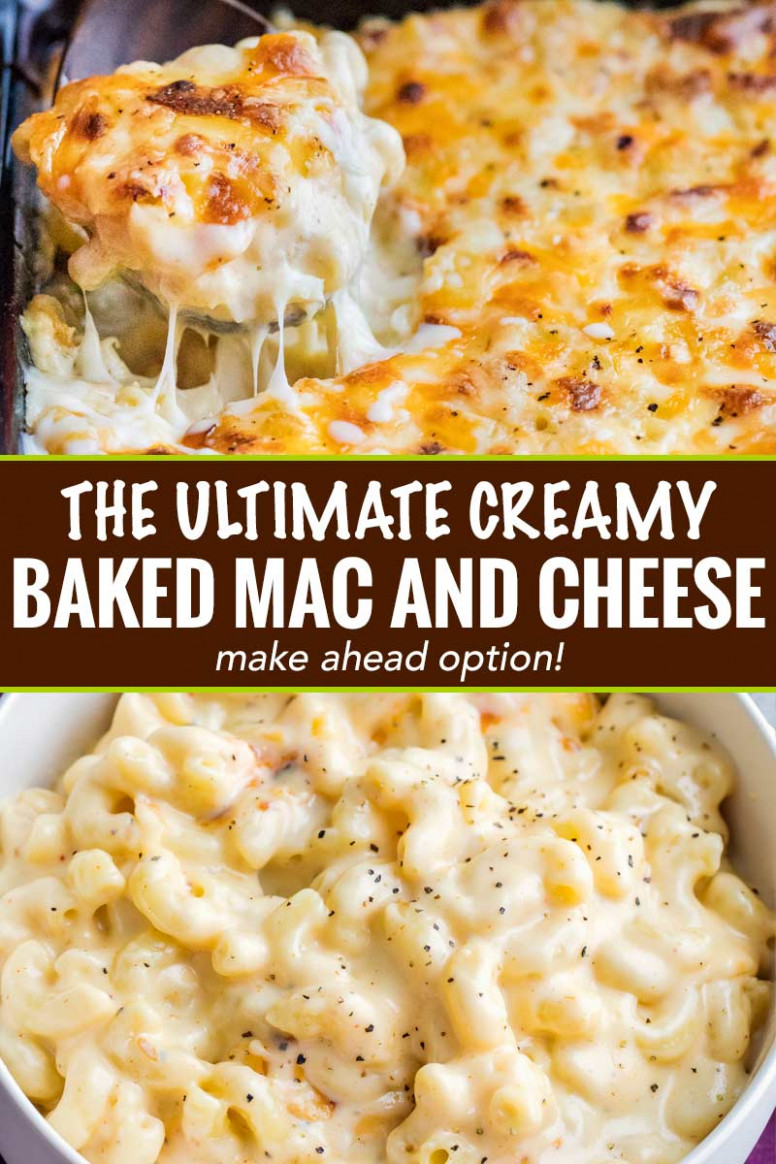 Creamy Baked Mac and Cheese (Contest-Winning!) - The Chunky Chef - food recipes mac and cheese
