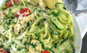 Creamy Chicken And Avocado Pesto Zoodles   With Peanut ..