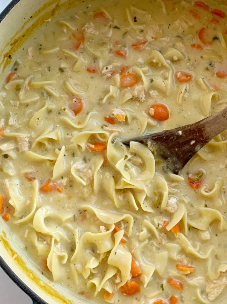 Creamy Chicken Noodle Soup - recipes that use chicken broth