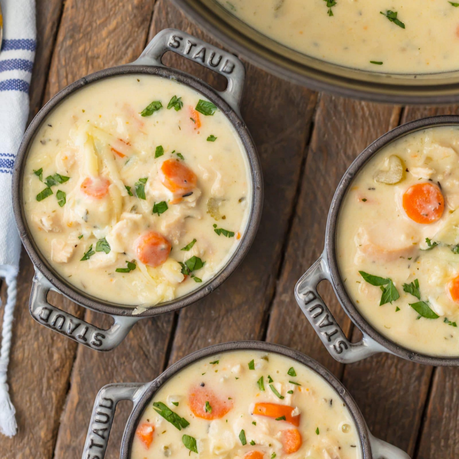 Creamy Chicken Soup - best homemade chicken vegetable soup recipes