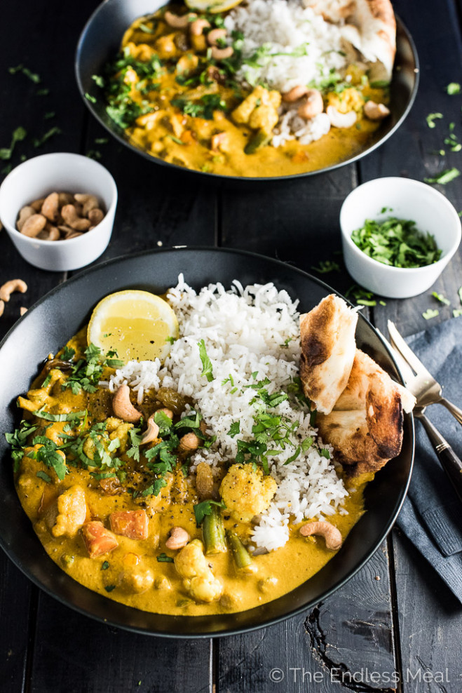 Creamy Coconut Vegetarian Korma | The Endless Meal - healthy indian recipes vegetarian