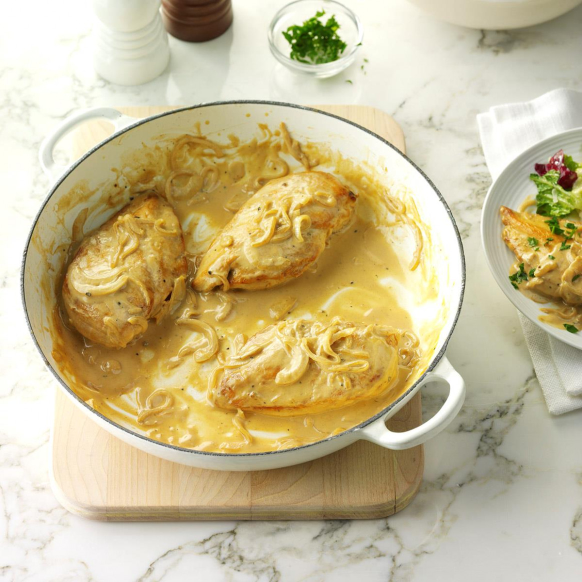 Creamy Dijon Chicken Recipe | Taste of Home - chicken recipes taste
