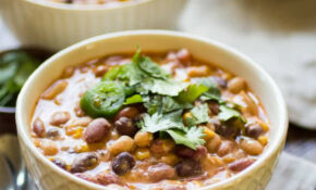 Creamy Enchilada Crockpot Vegetarian Chili – The Wanderlust ..