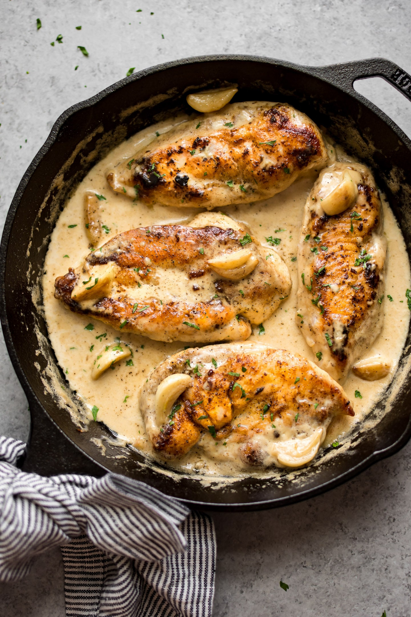 Creamy Garlic Chicken • Salt & Lavender - Chicken Recipes Using Sour Cream