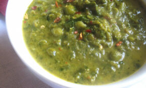 Creamy Green Pea And Collard Greens Soup | Lisa's Kitchen ..