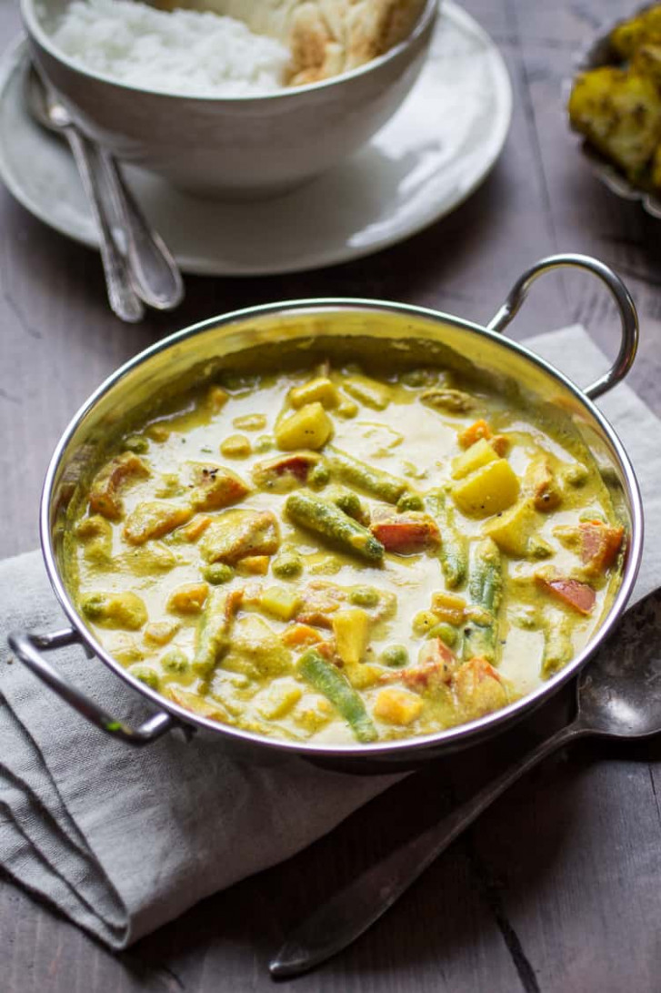 Creamy Indian Vegetable Korma - The Wanderlust Kitchen - recipes for indian food