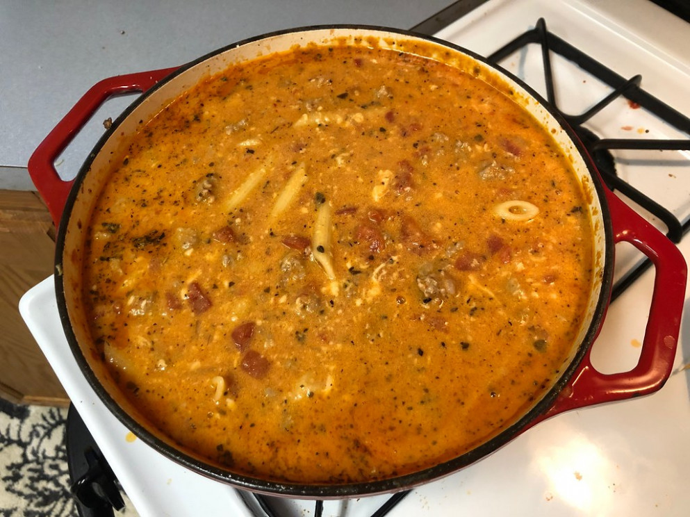 Creamy Italian Sausage Soup - chicken recipes using cooked chicken