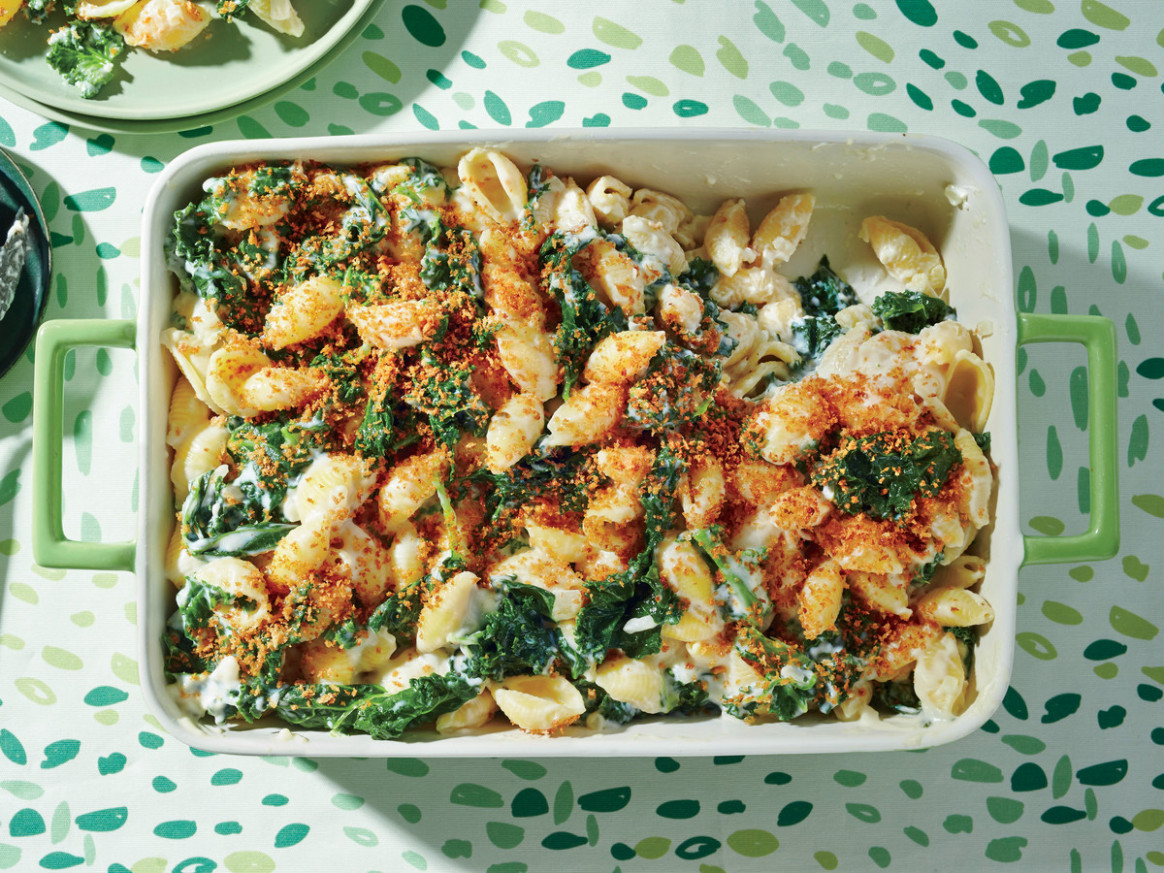 Creamy Kale and Pasta Bake Recipe - pasta bake recipes vegetarian